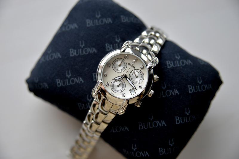 Бриллианты! женские часы хронограф с бриллиантами bulova, діам... - Фото 8