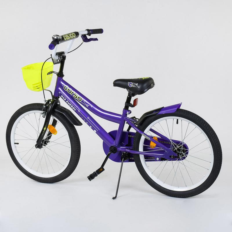 Детский трёхколесный велосипед Corso 20 дюймов корзина - Фото 2