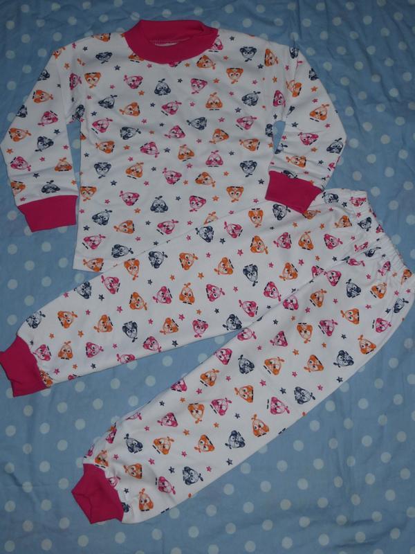 Трикотажная пижама с начесом 3-6лет