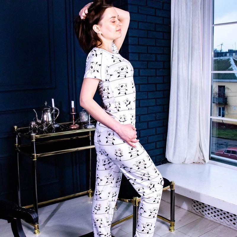 Бавовняна піжама з танцюючими пандами