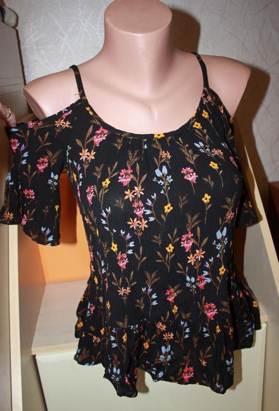 Блузка с открытыми плечиками - Фото 2