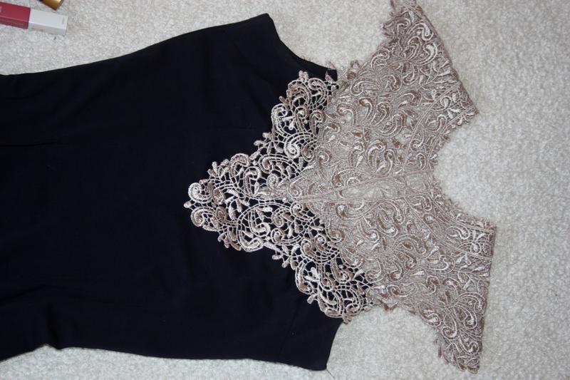 Красивое платье  с шикарным кружевом. платье миди - Фото 3