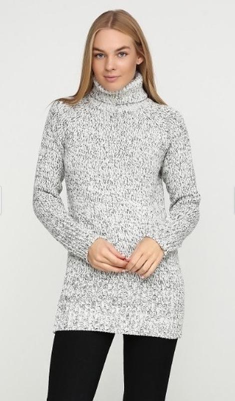 Теплое платье туника. вязаное платье -гольф