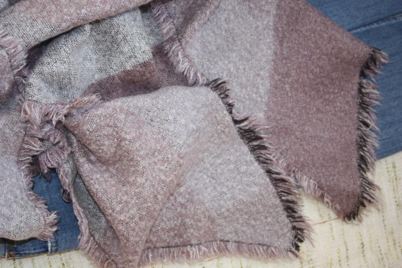 Красивый объемный шарф в клетку - Фото 2