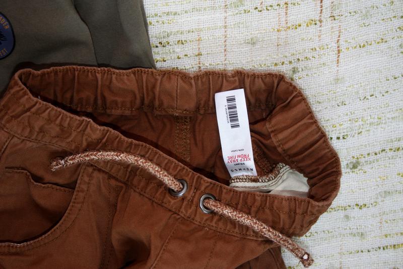 Стильные штаны на 9-10л. джинсы с манжетами - Фото 4