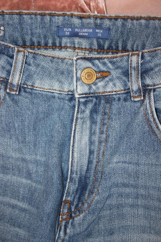 Стильные кюлоты . джинсы укороченные. джинсы с высокой посадкой - Фото 3