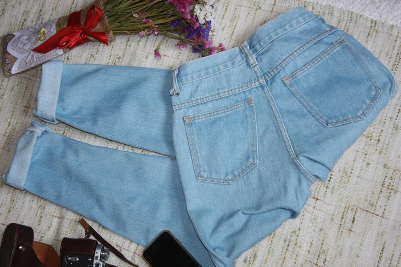 Крутые момы. джинсы с высокой посадкой. джинсы мом - Фото 2