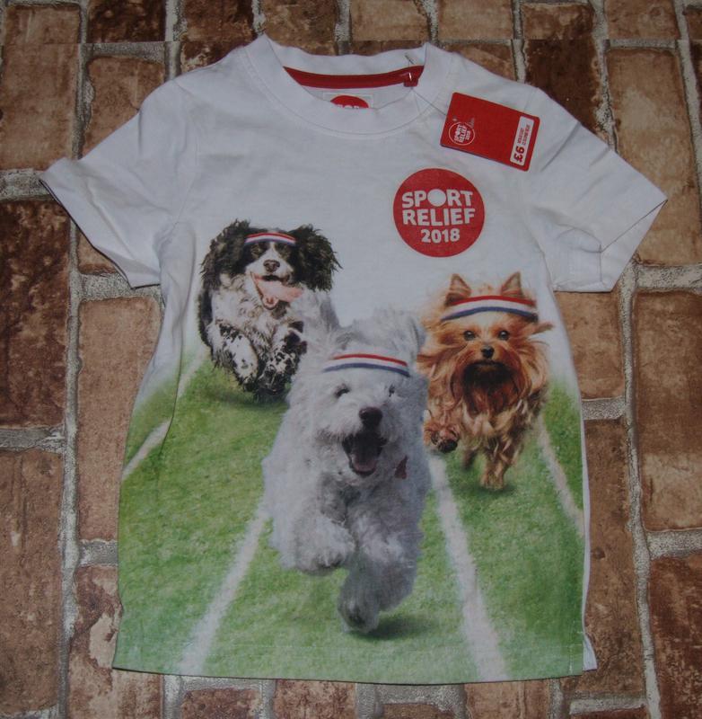Новая хлопковая футболка 3 - 4 года мальчику - Фото 2