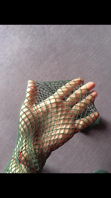 Колготки в крупную сетку цвета хаки