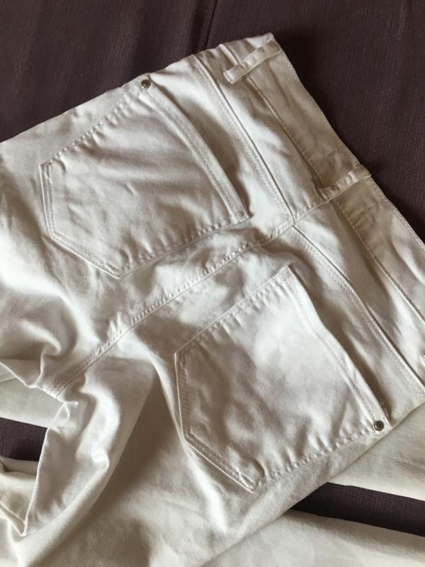 Актуальные белые котоновые  штаны,джинсы с высокой посадкой и ... - Фото 2