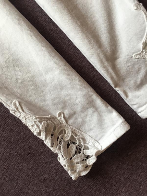 Актуальные белые котоновые  штаны,джинсы с высокой посадкой и ... - Фото 4