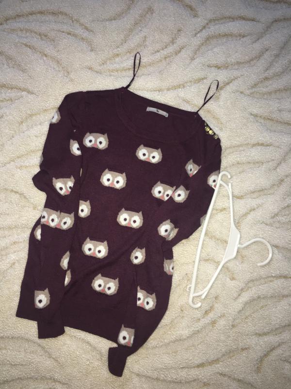 Чудесный свитерок в совушки tu - Фото 2