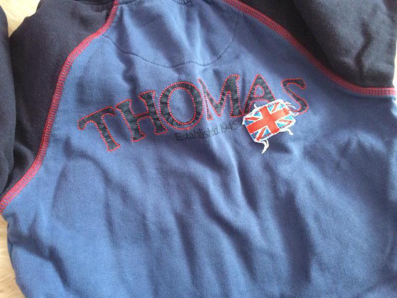 Реглан, бобка с капюшоном паравозик томас 3-5 годика - Фото 2