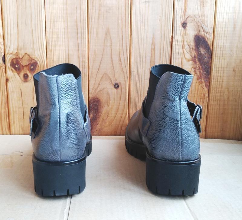 Новые полностью кожаные полусапожки итальянские стильные челси... - Фото 4