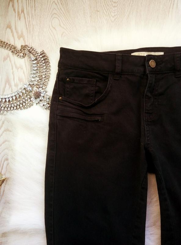 Черные плотные стрейч джинсы скинни узкачи с молниями снизу кр... - Фото 3