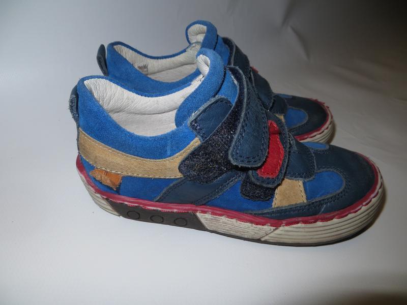 Детские кожанные кеды, ботинк р.25