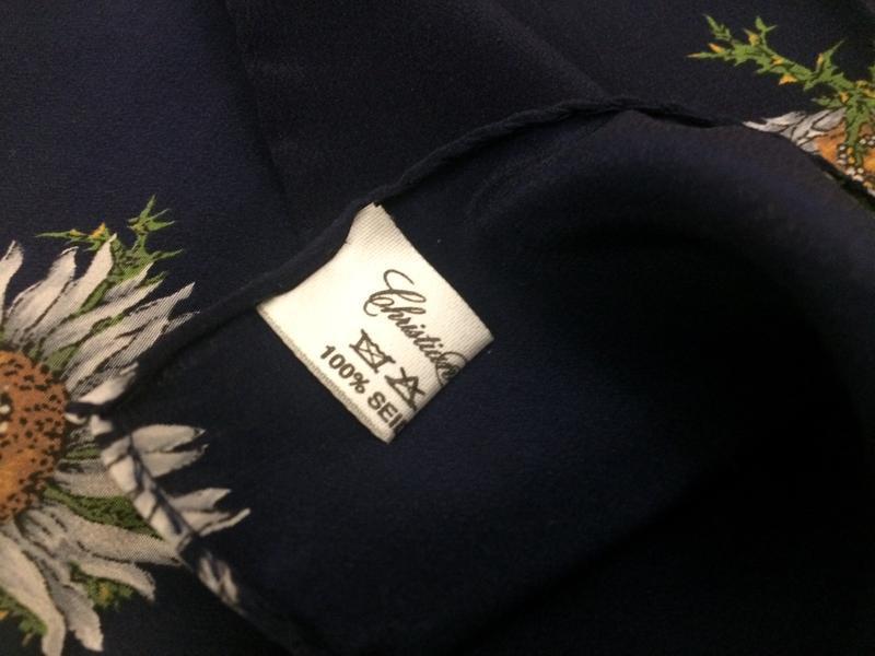 Christian fischbaher платок ромашки 100% шёлк - Фото 3