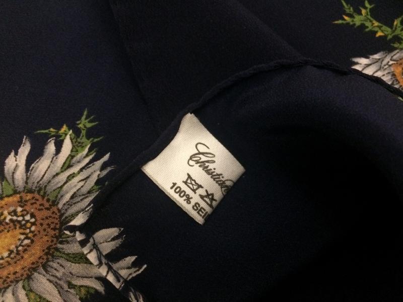 Christian fischbaher платок ромашки 100% шёлк - Фото 5
