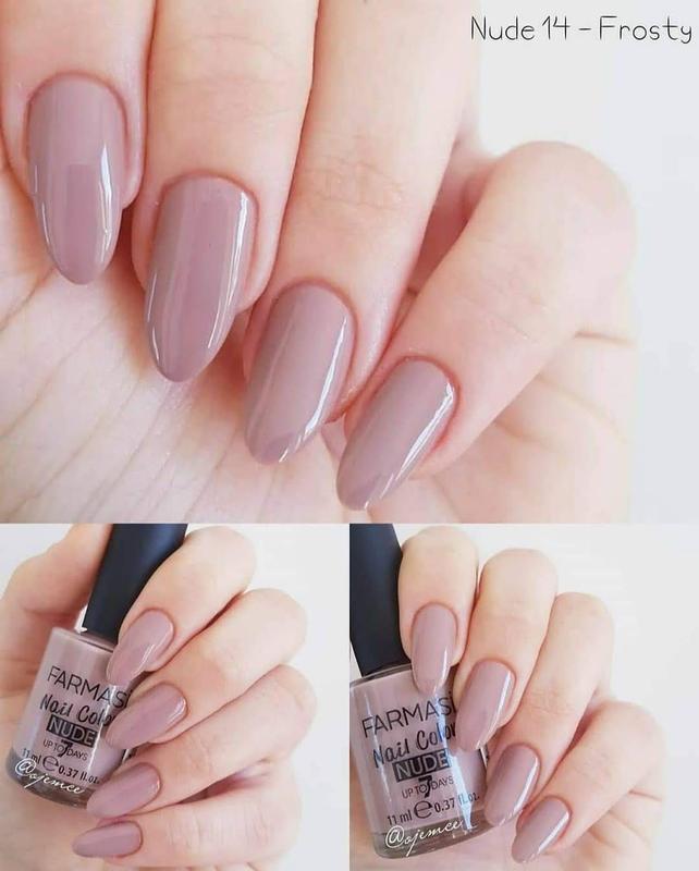 Лак для нігтів з нюдовим покриттям 14 морозний - Фото 5