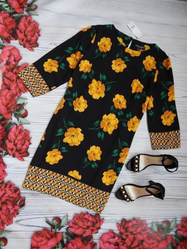 🌿эксклюзивное, невероятное женское нарядное платье в цветочный... - Фото 2