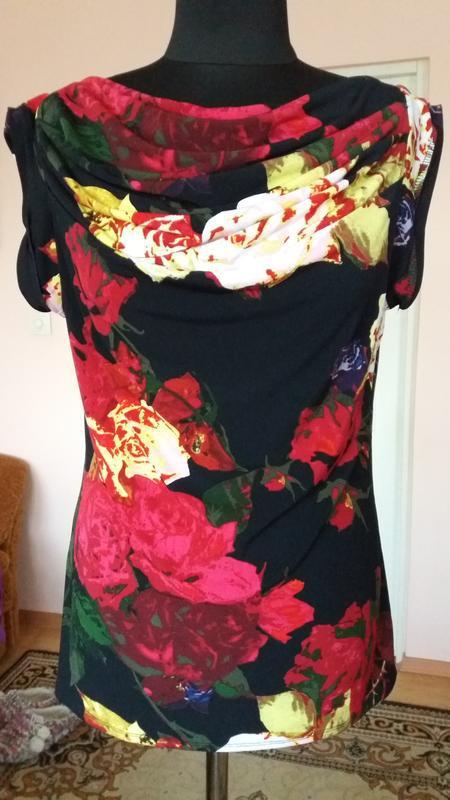 Яркая стильная блуза grace elements(сша),размер м - Фото 3