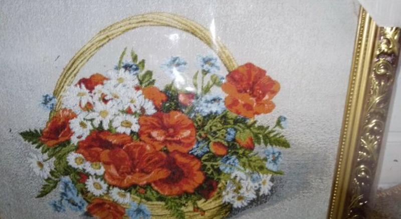 Гобелен Корзина с цветами - Фото 3