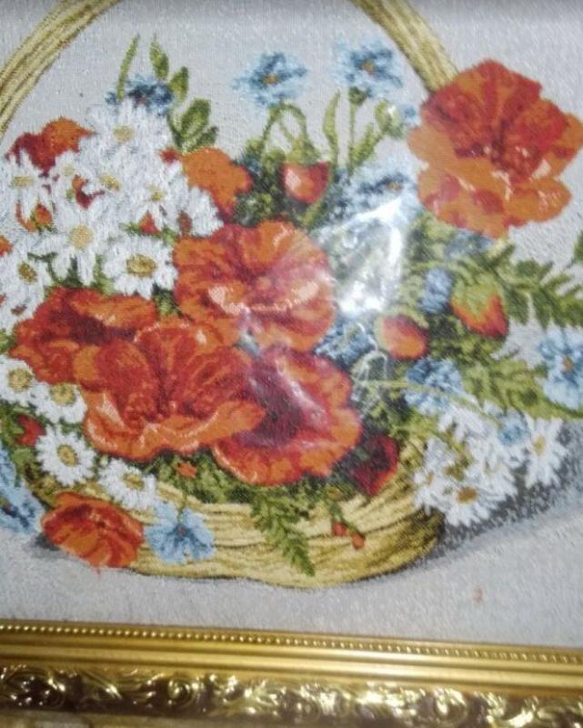Гобелен Корзина с цветами - Фото 2
