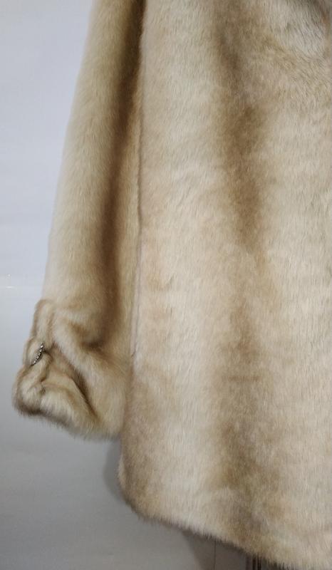 Стильная белая айвори американская шуба uk 12/40/m - Фото 3