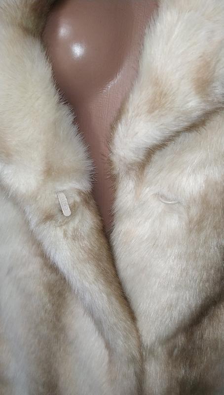 Стильная белая айвори американская шуба uk 12/40/m - Фото 4