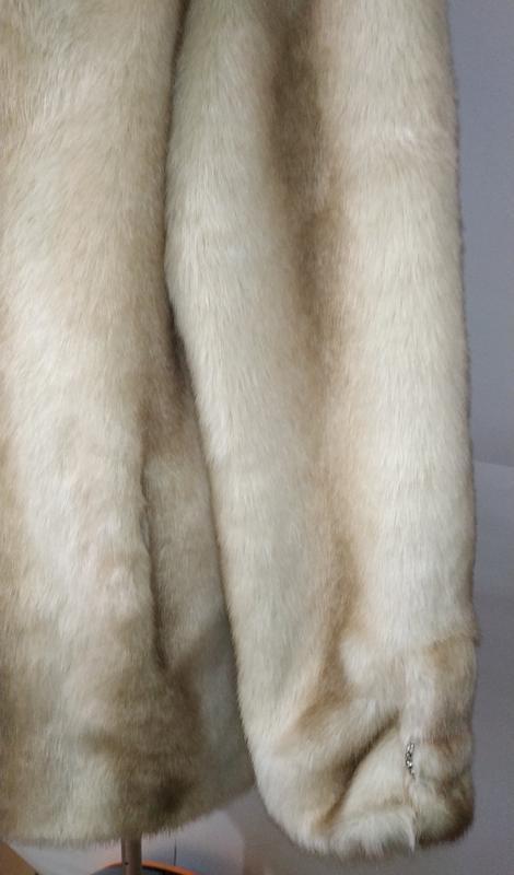 Стильная белая айвори американская шуба uk 12/40/m - Фото 6