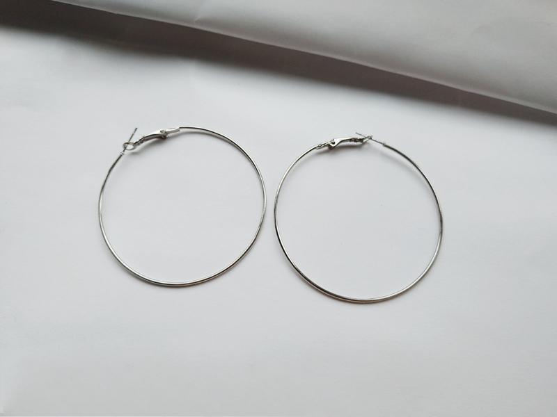 Серьги кольца 5,8 см. - Фото 2