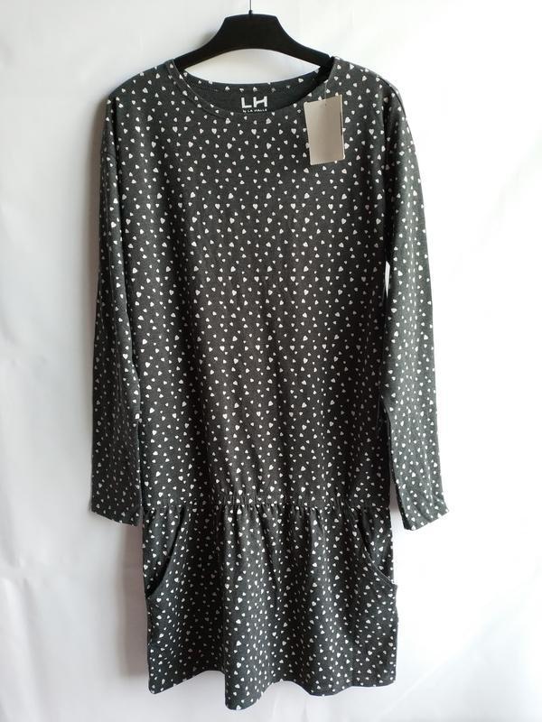 Стильное подростковое платье свободного кроя французского брен...