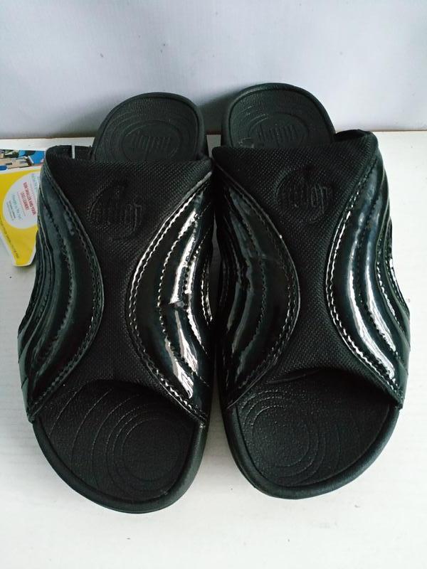 Качественные шлепки   унисекс  fitflop freeway sandals - black... - Фото 3