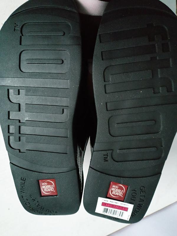Качественные шлепки   унисекс  fitflop freeway sandals - black... - Фото 4
