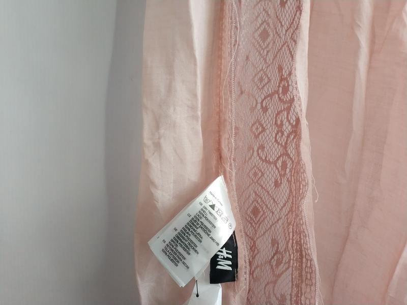 Качественный женский шарф шарфик  с кружевом шведского бренда h&m - Фото 5