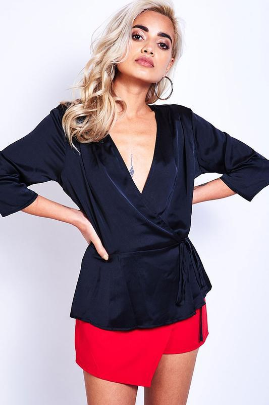 Женская блуза на запах датского бренда sisters point, xl - Фото 2
