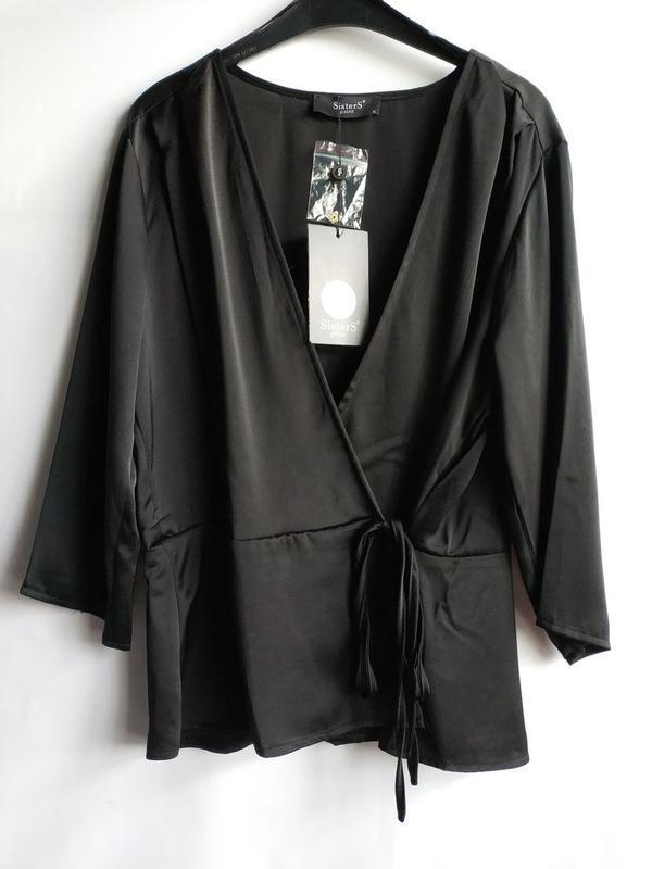 Женская блуза на запах датского бренда sisters point, xl - Фото 7