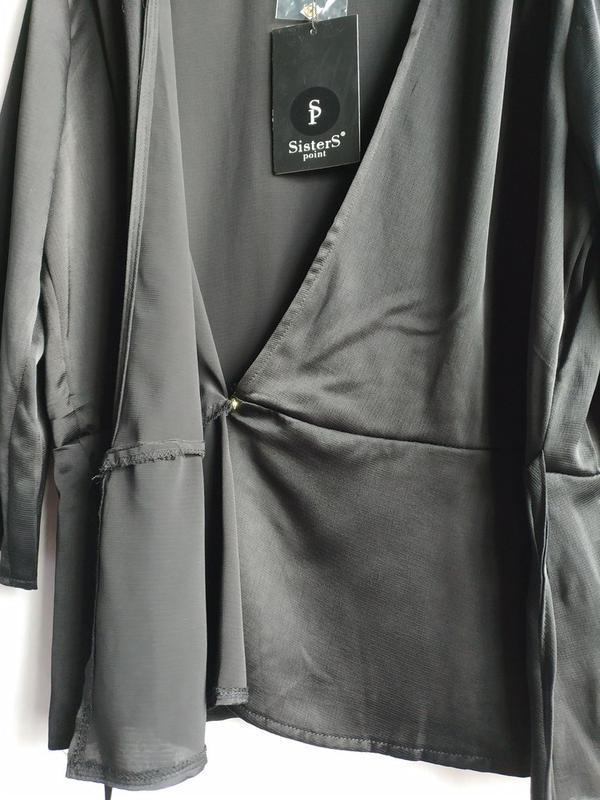 Женская блуза на запах датского бренда sisters point, xl - Фото 8