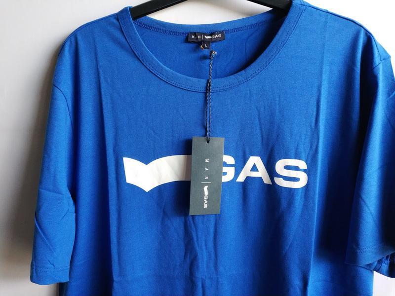 Мужская футболка итальянского premium бренда gas, l, xl - Фото 3