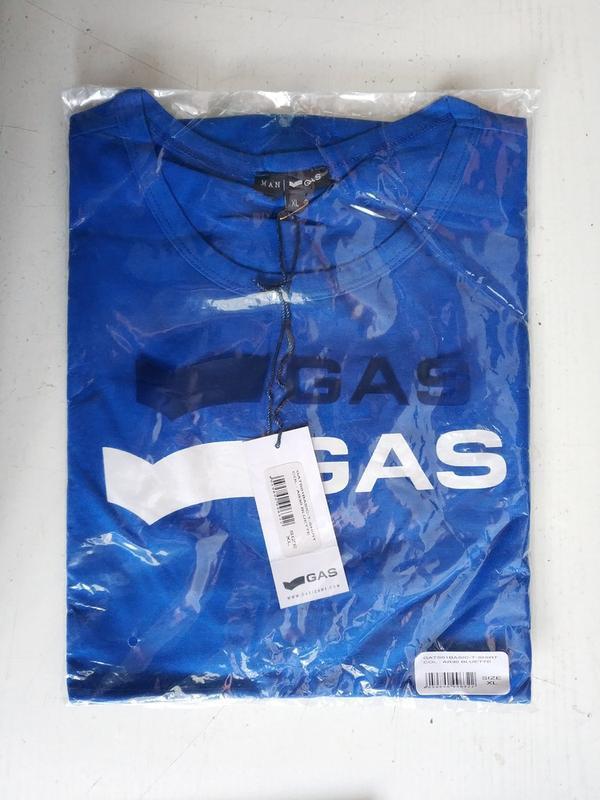 Мужская футболка итальянского premium бренда gas, l, xl - Фото 4