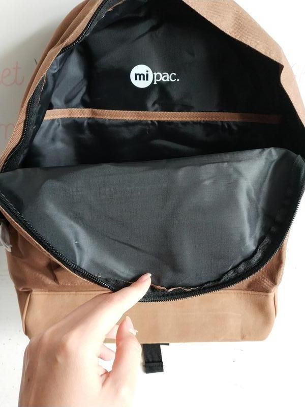 Рюкзак унисекс английского бренда mi-pac classic mocha 740001 a13 - Фото 8