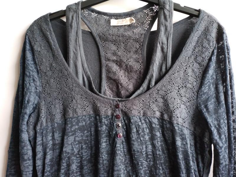 Женская кофточка  реглан  французского бренда ddp, м - Фото 4