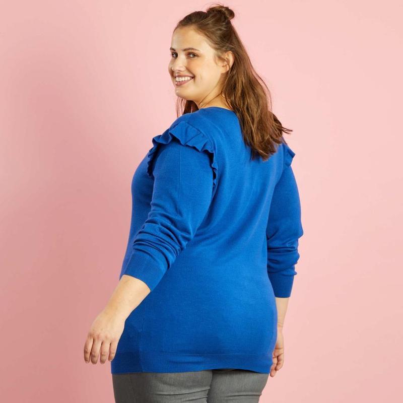 Батал !!  лёгкий женский джемпер  французского бренда kiabi, e... - Фото 3