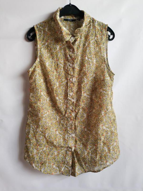 Лёгкая женская блуза французского бренда kiabi, оригинал, xs-s