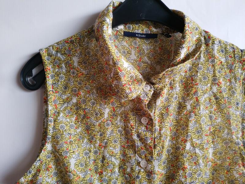 Лёгкая женская блуза французского бренда kiabi, оригинал, xs-s - Фото 3
