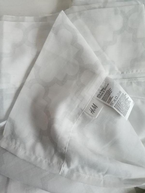 Две шторки из хлопка и полиэстера 120 на 250 шведского бренда ... - Фото 3