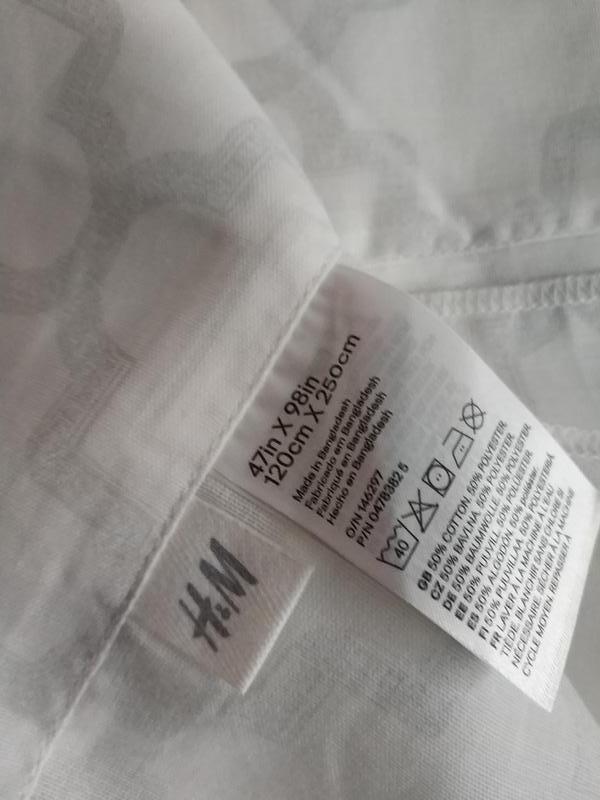 Две шторки из хлопка и полиэстера 120 на 250 шведского бренда ... - Фото 4