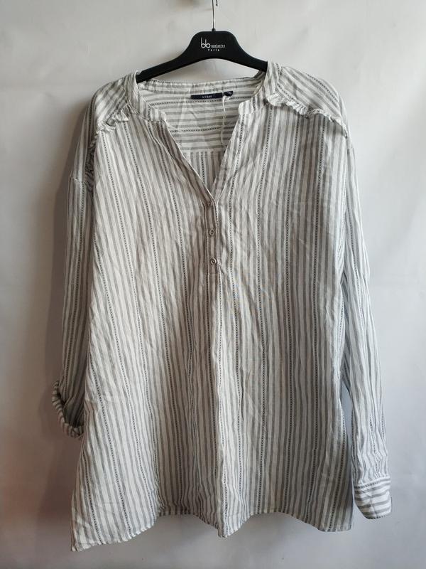 Женская рубашка-блуза в полоску хлопок французского бренда kia...