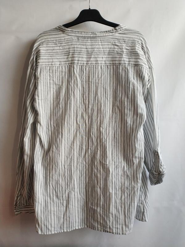 Женская рубашка-блуза в полоску хлопок французского бренда kia... - Фото 2