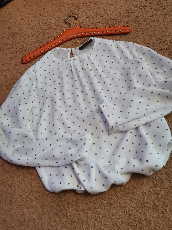 Белая блуза в стиле isabel marant с нежным принтом xs-s